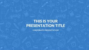 Blue Powerpoint Theme Blue Free Google Slides Keynote Theme And Powerpoint Template