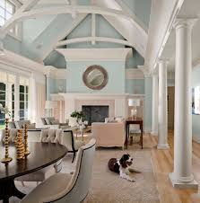 Neutral Color Scheme For Living Room Beachy Living Rooms Living Room Transitional With Vaulted Ceilings
