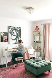 pink office decor. Pink Office Decorating Ideas Writing Letters In A Feminine Black White And Decor Small