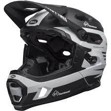 Bell Downhill Mtb Helmet Super Dh Mips Fasthouse Matte Black White