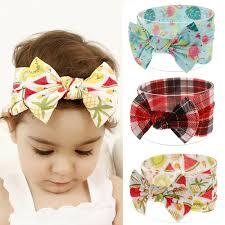 Designer Head Wraps Designer Headbands Stripe Fruit Printed Head Wraps Bowknot Turban Summer Hairband Infants Photo Prop Elastic Hair Accessories Gift Girl Hair