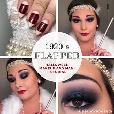 1920 s flapper makeup and mani tutorial 2018 supernovabeauty