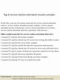 Gas Station Attendant Sample Resume