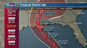 5 hours ago · tropical storm ida could be close to category 4 hurricane strength when its makes landfall late sunday or early monday on louisiana's coast, hurricane forecasters said friday morning. R1l Qgwh Uoskm