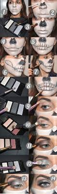 makeuptutorial half skeleton makeup you skeleton makeup by lekstedt the best ideas apply your foundation first
