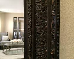 Wood wall mirrors Rectangular Elegance Ornate Embossed Bronze Framed Wood Wall Mirror West Frames Wall Mirrors West Frames