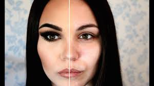 the power of makeup half covered half nothing