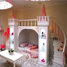 bedroom furniture for girls castle. Plain Bedroom Castle Bed With Stair And Slide In The Girl Bedroom  Beautiful  For Your Kids Intended Furniture Girls F