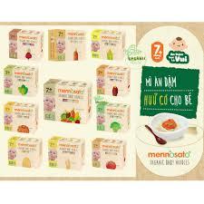 Mì ăn dặm hữu cơ cho bé từ 7 tháng tuổi Organic Baby Golden Noodle &  MenNoSato 200g - 300g, Giá tháng 10/2020