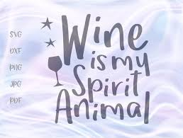 #svg #svgfile #freesvg #pumpkin #fall #cricut. Wine Is My Spirit Animal Graphic By Digitals By Hanna
