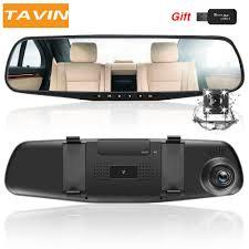 <b>TAVIN Dual</b> lens Car dvr white Mirror <b>Dash cam</b> Rearview Mirror car ...