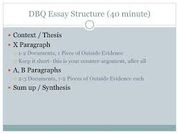 leq dbq crash course write thesis statements for all essay  dbq essay structure 40 minute
