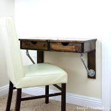 diy rustic desk with drawers