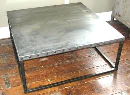 diy zinc table top coffee table top zinc coffee table brilliant impressive on with magnificent tables