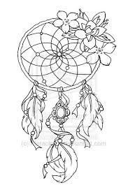 Dream Catcher Outline Tattoo designs for Dreamcatcher 100 Roses Lotus Flower Tree of Life 20