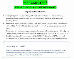 Sample Professional Resume Summary Qualifications 20 Example Resume ...