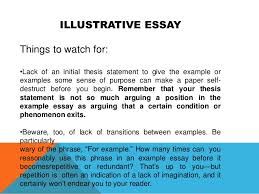 illustration essay thesis what is a good thesis statement for an illustration essay about