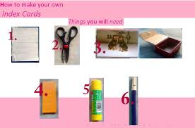 Make Index Cards How To Make Index Cards At Home The Pretty City Girl