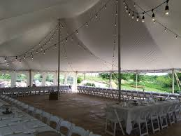 wedding tent lighting ideas. Rope And Pole Tent With Bistro Lights. Contact ABC Rentals Special Events To Get More Information About Renting A For Your Wedding Or Event! Lighting Ideas S