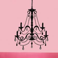 chandelier wall stickers with gems by roommates