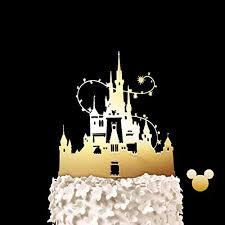 Amazoncom Disney Castle Wedding Cake Topper Keepsake Wedding