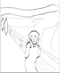 the scream coloring sheet. Brilliant Scream Fantastic Collection Of Coloring Pages Based On Famous Works Of Munch The  Scream  To The Scream Coloring Sheet