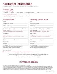 New Customer Account Form New Customer Account Form Rome Fontanacountryinn Com
