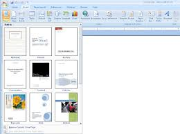 Microsoft Word Cover Page Template 7 Report Cover Page Templates For