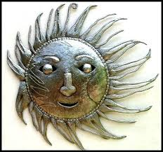 metal sun wall hanging hammered recycled steel drum art handcrafted metal mysterious sun face metal wall  on mysterious sun face metal wall art with home silver sun metal wall decor sun metal wall art uk home silver