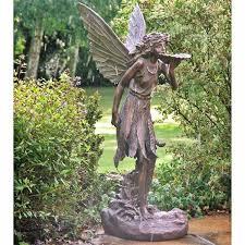 fairy garden statues. Modren Statues Large Fairy Garden Statue  Large Standing Fairy Resin Garden Statue  Internet Gardener And Statues