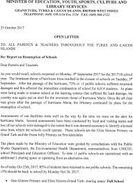 Letter Report Report On Resumption Of Schools Open Letter From The Minister Of