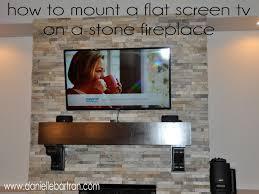 made how to mount a flat screen tv on a stone fireplace diy and tv mount mounting tv over