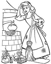 Assepoester Moet Haar Huis Schoonhouden Kleurplaat Gratis