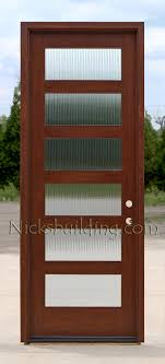 with rain glass exterior modern door with reed glass