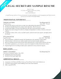 Legal Assistant Resume Examples Simple Sample Resume Legal Assistant Resume Legal Secretary Legal Assistant