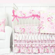 interior shabby chic roses ruffle baby beddling caden lane antique crib bedding loveable 4