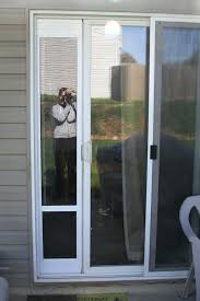 sliding glass door with dog door in glass pet door how to put a dog door