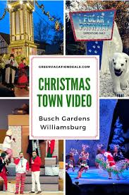 video tour of busch gardens town celebration from 2018 see clips of the al performances ice skating show rides lights from