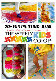 20+ Fun & Creative Painting Ideas for Kids + The Weekly Kids Co-Op