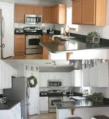 kitchen in snow white milk paint