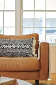 sven leather chair target fringed pillow
