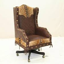 rustic office chair. western executive office chair rustic n