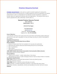 Resume Sample For Lecturer Post Fresher Fresh Sample Resume For