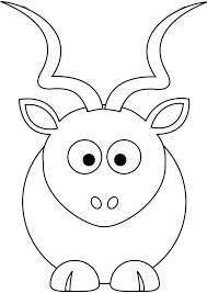 Small Picture Free baby kudu coloring page