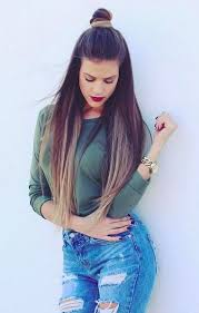 ombre long straight hairstyle straight hair
