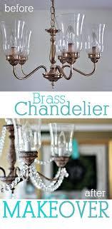 brass chandelier makeover brass chandelier makeover brass and glass chandelier makeover