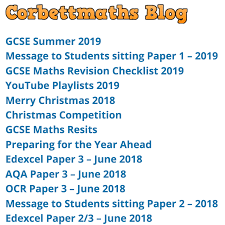 How To Revise A Paper Blog Corbettmaths