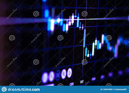 Bars And Candles On Trading Charts Stock Image Image Of
