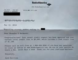 Bank Of America Credit Card Letter Juzdeco Com