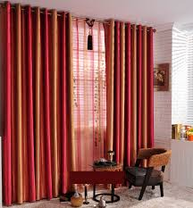 ... Striped Gold Comfortable Touching Energy Saving Curtains ...